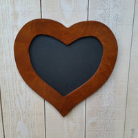 Heart shaped Chalkboard. 12 inches chalkboard.  Chalkboards by choochooframe. Rustic chalkboard. First day of school chalkboard.