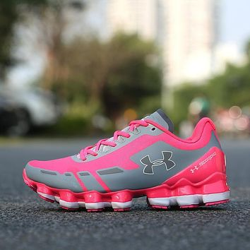 Under Armour UA Scorpio Women Running Shoes Gray Pink White