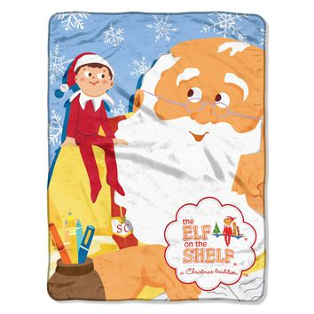 "Elf On The Shelf - Santa Parade Licensed 46""x 60"" Micro Raschel Throw  by The Northwest Company"
