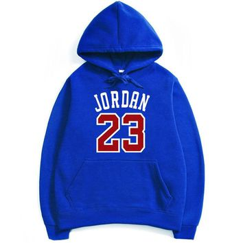 23 Jordan Men Skateboarding Hoodies Warm Fleece Sweater Winter Warm Women Sports Sweatshirt