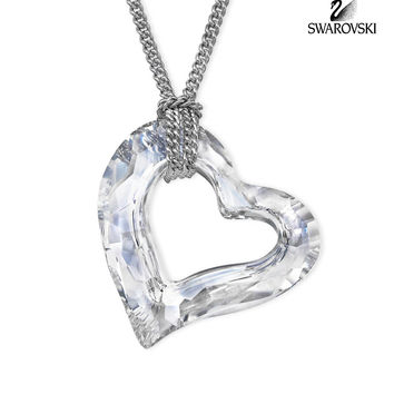 Swarovski Clear Crystal LOVEHEART Small Pendant Necklace #5187361