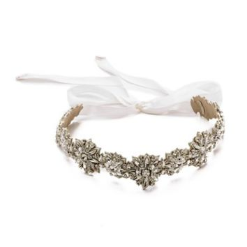 Deepa Gurnani Wide Crystal Belt