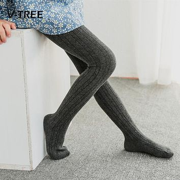 Girls Tights Stockings Winter Autumn Thicken Kids Warm Candy Color Cotton Slim Tights For Girls Vhildren Stockings