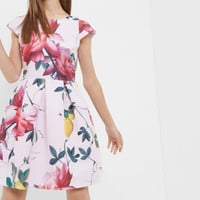 Citrus Bloom pleated dress - Pink | Dresses | Ted Baker