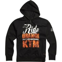 Fox Racing KTM Ride Orange Zip Hoodie Womens Sweatshirt Black | Fox Racing Womens Sweatshirts at Bob's Cycle Supply | Bob's Cycle Supply