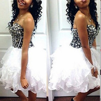2016 Organza Short Homecoming Dress