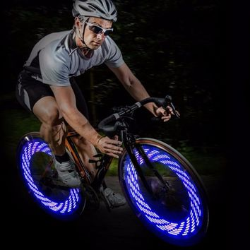 Bicycle Lights Bike Cycling Wheel Spoke Light  Waterproof Tire Valve Lamp Gas Lamp