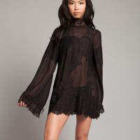 Queen 4 A Day Lace Dress in Black
