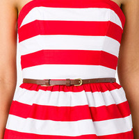 Striped Peplum Tube Top | FOREVER 21 - 2041056008