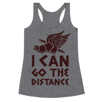 I CAN GO THE DISTANCE RACERBACK TANK