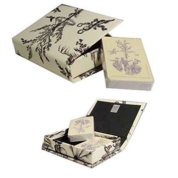 Morcheaux Chosis French Made Black Toile Box Playing Card Set