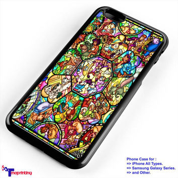 Character Disney Stained Glass Cases - Personalized iPhone 7 Case, iPhone 6/6S Plus, 5 5S SE, 7S Plus, Samsung Galaxy S5 S6 S7 S8 Case, and Other