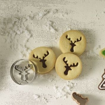 2 Piece Reindeer Cookie Cutter in cookie and pastry cutters at Lakeland