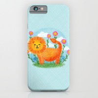 Happy Lion iPhone & iPod Case by Noonday Design