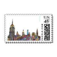 ::: New York Energy ::: Postage (White) from Zazzle.com