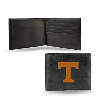 ICIKIHN Tennessee Volunteers Wallet Black LEATHER BillFold Embroidered University of