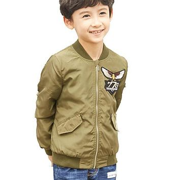 Boys jackets Spring&Autumn Baby Boys Outerwear Coats Children Jackets For Boys 4-16Y Kid Windbreaker Clothes