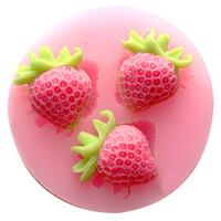 Strawberry silicone baking forms Fondant Cake Chocolate Soap Sugar Craft Mold Mould Cutter Silicone Tools DIY Cupcake