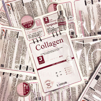 L'affair COLLAGEN 3 step Skin Renewal Mask x10pcs (bulk)