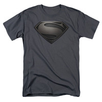 Superman Men's  Mos Desaturated T-shirt Charcoal Rockabilia
