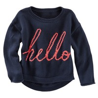 OshKosh B'gosh ''Hello'' Hi-Low Sweater - Girls