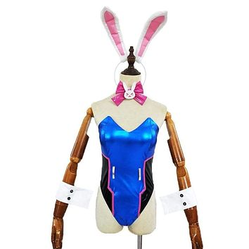Women Cosplay Costume DVA Bunny Girl Suits Sexy Cute Party Costumes Game Roleplay Lingerie Bodysuit Female Clubwear with Ear Macchar Cosplay Catalogue