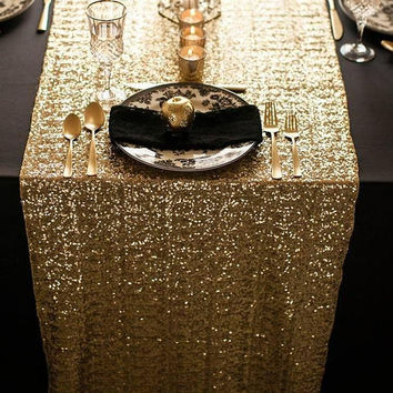 Luxury Sequin Table Runners--NEW COLORS & SIZES To Choose From!