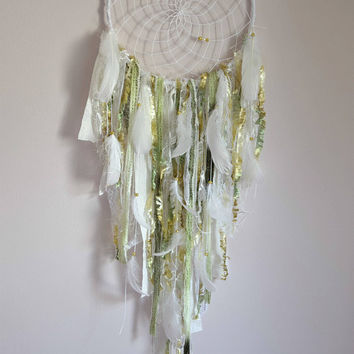 Lace Woodland Dream Catcher, Large Nursery  Dreamcatcher, Woodland Nursery Bedroom  Wall Decor, Wall Hanging  Tapestry, Nursery Decor