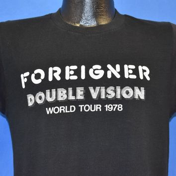 70s Foreigner Double Vision World Tour 1978 t-shirt Medium