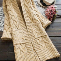 Cupshe Public Display Twist Sweater Cardigan