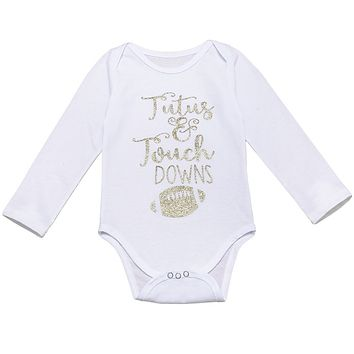 New Autumn Newborn Toddler Baby Boys Girls Long Sleeve Rugby Golden Letter Print Bodysuit Jumpsuit Baby Clothes Outfits Ropa