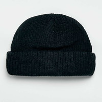 Black Roll Beanie - Men's Winter Accessories - Shoes and Accessories