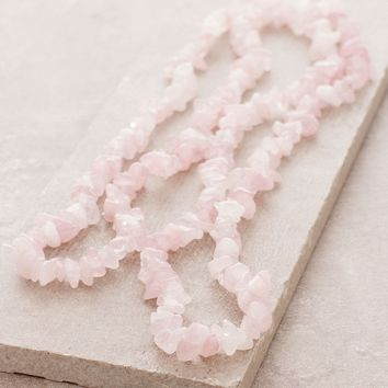 Rose Quartz Gemstone Nugget Necklace