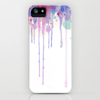 Watercolor Drip iPhone Case by Abigail Ann | Society6