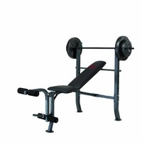 Marcy Diamond Bench and Weight Set (80-Pound)