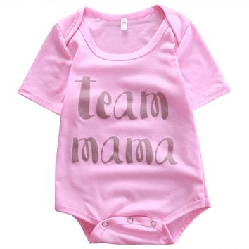 Cotton Newborn Kids Baby Girls Pink Romper Jumpsuit Playsuit Clothes baby clothing girl newborn clothing one piece costume