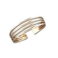 Four Strand Adjustable Toe Ring - Gold Filled
