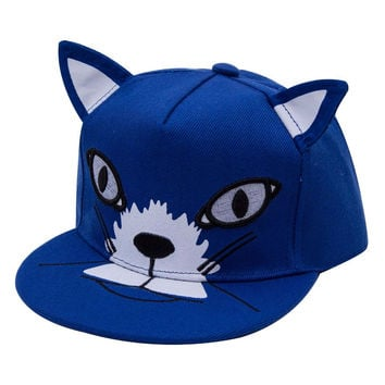 Cat Ears Style Cap Children Boys And Girls Baseball Hat Cap Children Snapback