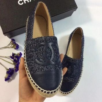 CHANEL Women Casual Fashion Espadrilles Flats Shoes