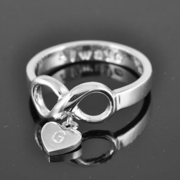 ON SALE, infinity ring, infinity knot ring, best friend ring, promise ring,personalized ring, friendship ring, sisters ring
