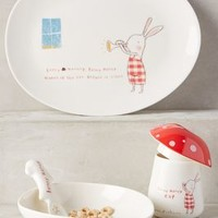 Bunny Honey Dinnerware Set by Anthropologie in Red Size: One Size Gifts