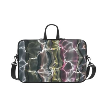 Personalized Laptop Shoulder Bag Abstract Wavy Mesh Macbook Pro 17 Inch
