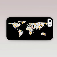 Daisy World Map Phone Case For - iPhone 6 Case - iPhone 5 Case - iPhone 4 Case - Samsung S4 Case - iPhone 5C -  Matte Case - Tough Case