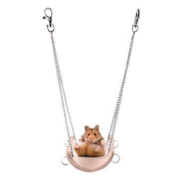 Hamster Swing Toys Rabbit Mouse Chinchilla Wooden Hanging Pet Hammock Small Swing Toys Cage Accessories Pet Product