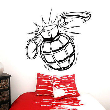 GRENADE WALL DECALS DECAL VINYL STICKER MILITARY EQUIPMENT DECOR ART MRALS N182