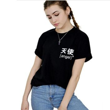 401d450a8d15 Japanese Angel Signs T-shirt Tumblr Inspired Pastel Pale Grunge. 𝕿𝖔𝖕𝖘  ...