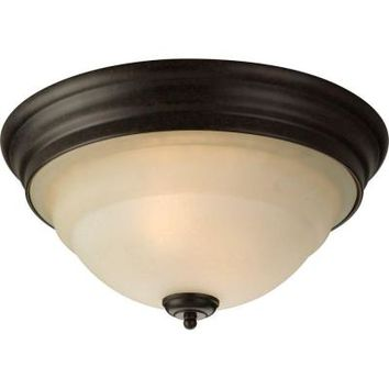 Progress Lighting, Torino Collection 2-Light Forged Bronze Flushmount, P3184-77 at The Home Depot - Tablet
