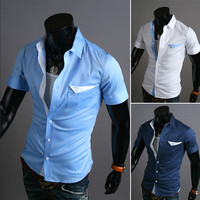 Short Sleeve Slim Fit Men's Fashion Shirt