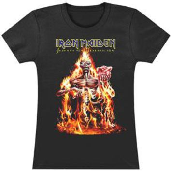 Iron Maiden  Seventh Son Fire Junior Top Black