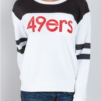 Junk Food Clothing - NFL San Francisco 49ers Sweatshirt - NFL - Collections - Womens
